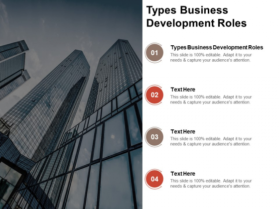 Types Business Development Roles Ppt PowerPoint Presentation Pictures Guide Cpb Pdf