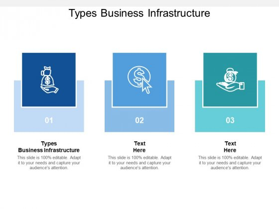 Types Business Infrastructure Ppt PowerPoint Presentation Infographic Template Design Inspiration Cpb