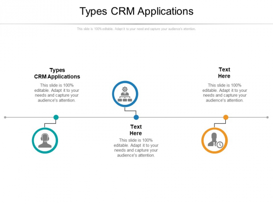 Types CRM Applications Ppt PowerPoint Presentation Pictures Sample Cpb Pdf