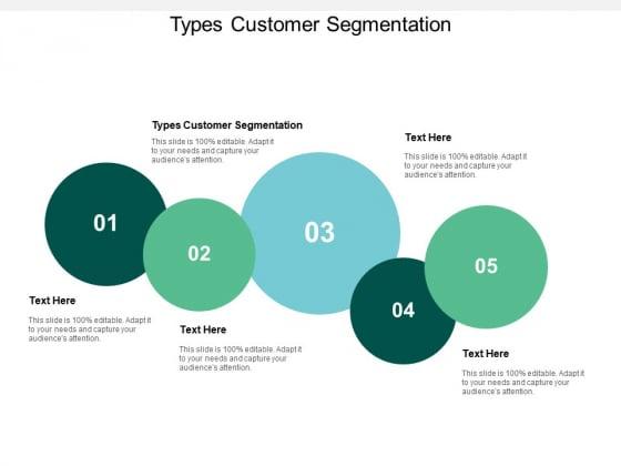 Types Customer Segmentation Ppt PowerPoint Presentation Layouts Deck Cpb