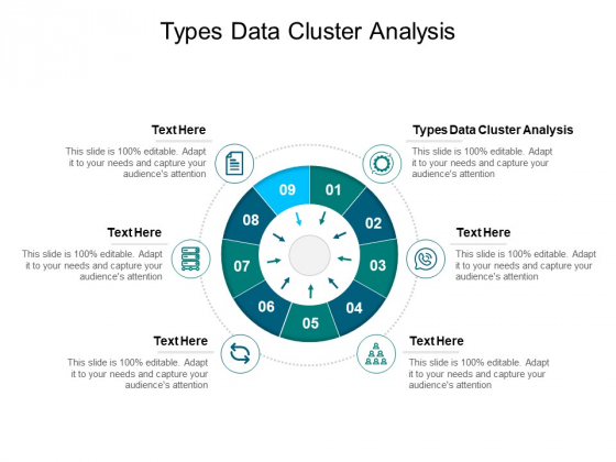Types Data Cluster Analysis Ppt PowerPoint Presentation Inspiration Graphics Template Cpb Pdf