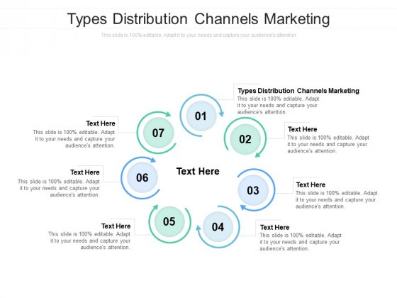 Types Distribution Channels Marketing Ppt PowerPoint Presentation Icon Example Cpb