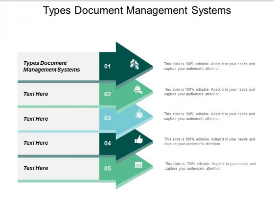 Types Document Management Systems Ppt PowerPoint Presentation Model Information Cpb