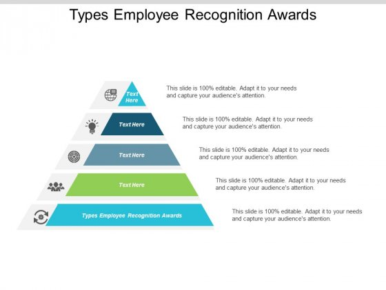 Types Employee Recognition Awards Ppt PowerPoint Presentation File Model Cpb