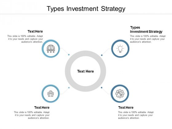 Types Investment Strategy Ppt PowerPoint Presentation Professional Clipart Images Cpb