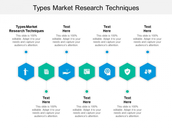 Types Market Research Techniques Ppt PowerPoint Presentation Pictures Graphic Tips Cpb