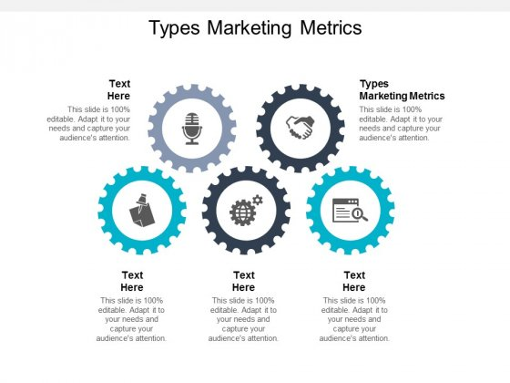 Types Marketing Metrics Ppt PowerPoint Presentation Summary Graphics Cpb
