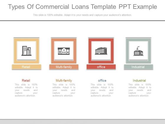 Types Of Commercial Loans Template Ppt Example