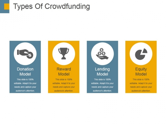 Types Of Crowdfunding Template 1 Ppt PowerPoint Presentation Gallery Slide Download