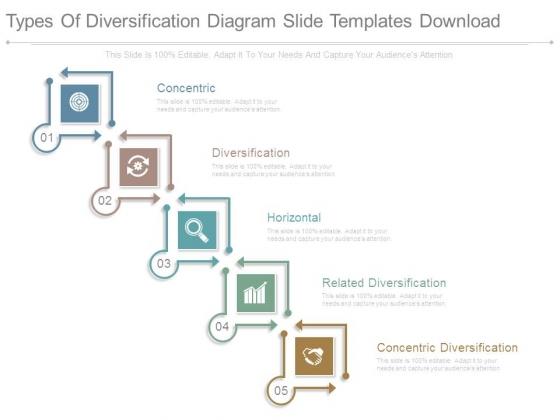 Types Of Diversification Diagram Slide Templates Download