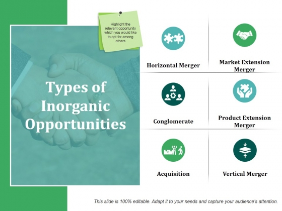 Types Of Inorganic Opportunities Template 1 Ppt PowerPoint Presentation Designs Download