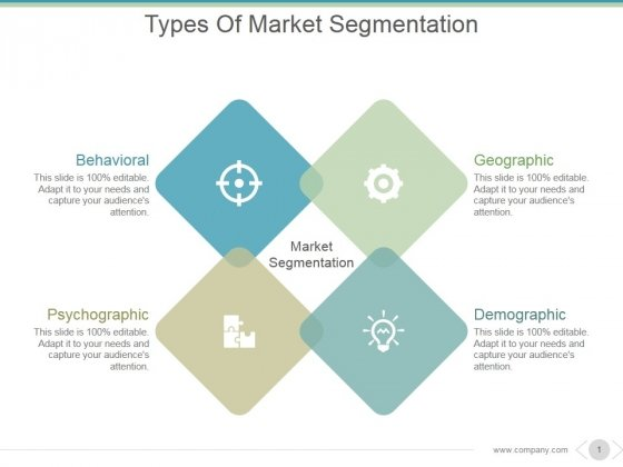 Types Of Market Segmentation Ppt PowerPoint Presentation Infographic Template