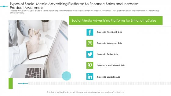 Types_Of_Social_Media_Advertising_Platforms_To_Enhance_Sales_And_Increase_Product_Awareness_Structure_PDF_Slide_1