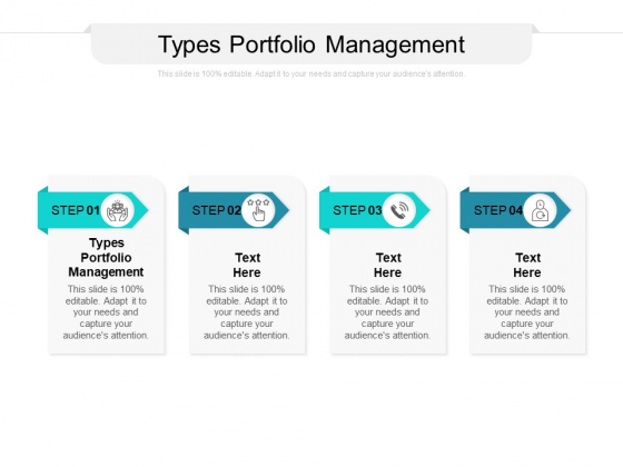 Types Portfolio Management Ppt PowerPoint Presentation Pictures Graphic Images Cpb
