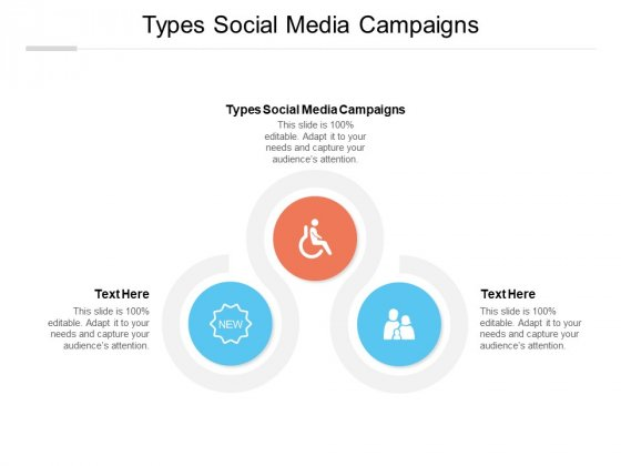 Types Social Media Campaigns Ppt PowerPoint Presentation Ideas Brochure Cpb