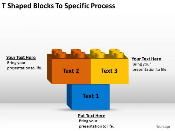 T-shaped Blocks To Specific Process Small Business Plan Samples Free PowerPoint Slides