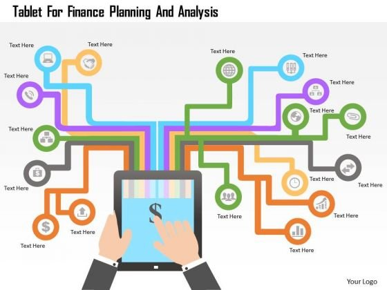 Tablet For Finance Planning And Analysis PowerPoint Template