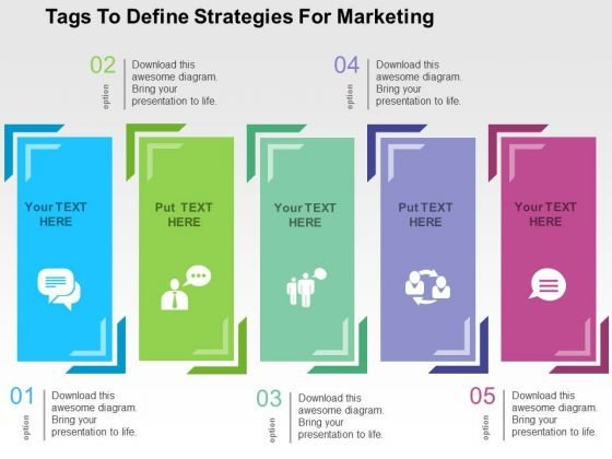 Tags To Define Strategies For Marketing PowerPoint Templates