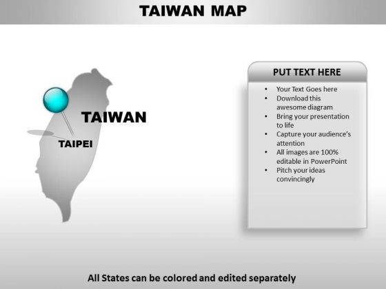 Taiwan Country PowerPoint Maps