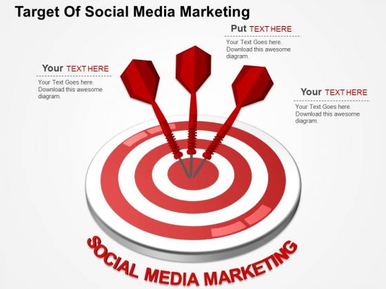 Target Of Social Media Marketing PowerPoint Templates