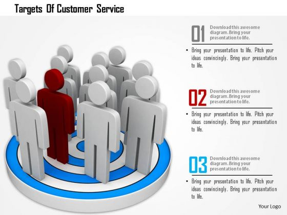 Targets Of Customer Service PowerPoint Templates