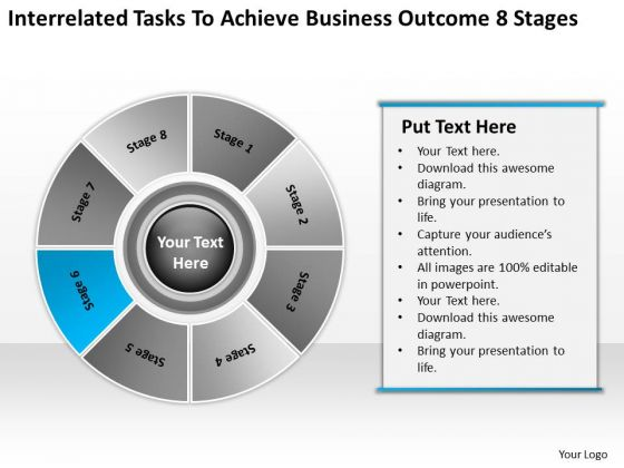 Tasks To Achieve Business Outcome 8 Stages Bottled Water Plan PowerPoint Slides