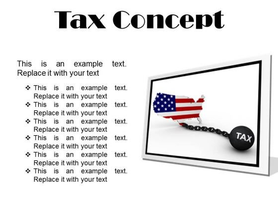 Tax Concept Finance PowerPoint Presentation Slides F
