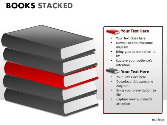 Teaching Books Stacked PowerPoint Slides And Ppt Diagram Templates