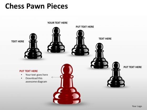 Team Chess Pawn Pieces PowerPoint Slides And Ppt Diagram Templates