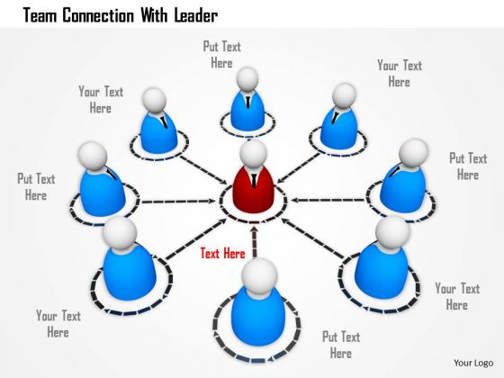 Team Connection With Leader PowerPoint Templates