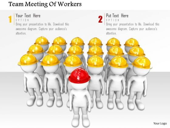 Team Meeting Of Workers PowerPoint Templates