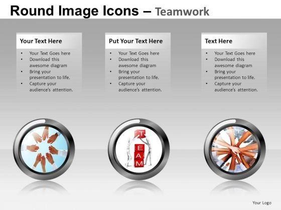 Teamwork Image Icons PowerPoint Templates Editable Ppt Slides