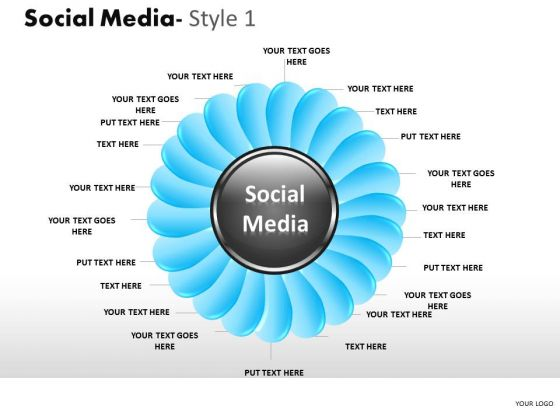 Teamwork Social Media 1 PowerPoint Slides And Ppt Diagram Templates