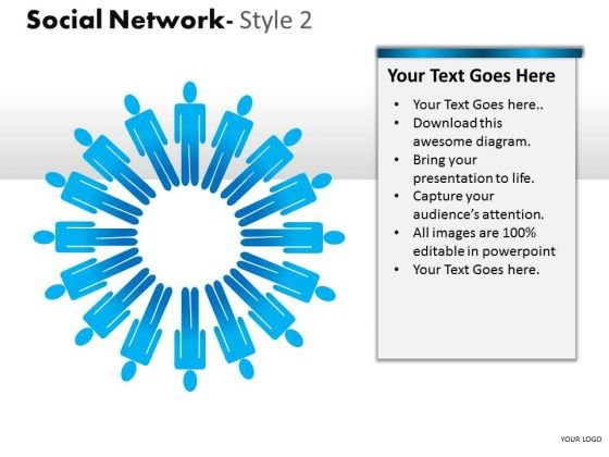 Teamwork Social Network 2 PowerPoint Slides And Ppt Diagram Templates