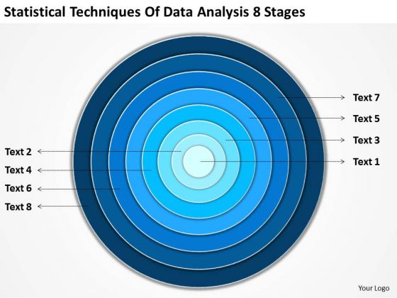Techniques Of Data Analysis 8 Stages Business Plan Template PowerPoint Slides