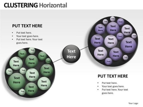 Technology Clustering Horizontal PowerPoint Slides And Ppt Diagram Templates