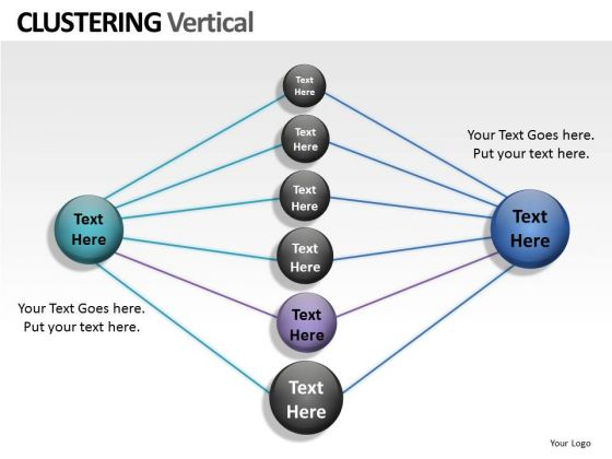 Technology Clustering Vertical PowerPoint Slides And Ppt Diagram Templates