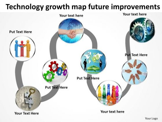 Technology Growth Map Future Improvements PowerPoint Templates Ppt Slides Graphics