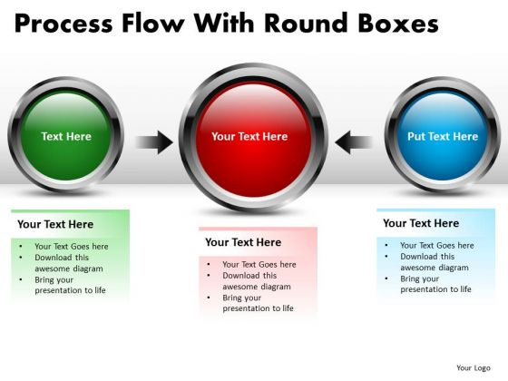 Technology Process Flow With Round Boxes PowerPoint Slides And Ppt Diagram Templates