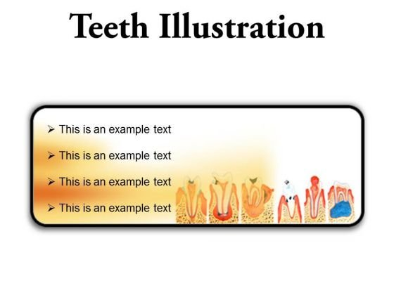Teeth Illustration Dental PowerPoint Presentation Slides R