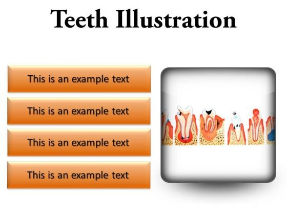 Teeth Illustration Dental PowerPoint Presentation Slides S