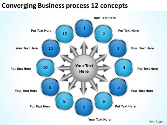 Templates Download Process 12 Concepts Ppt Circular Flow Layout Diagram PowerPoint Slides