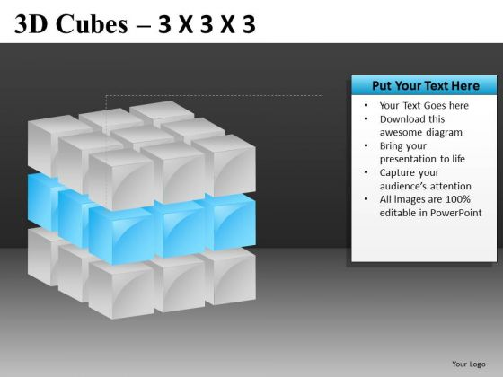 Templates For PowerPoint With Cube Diagrams