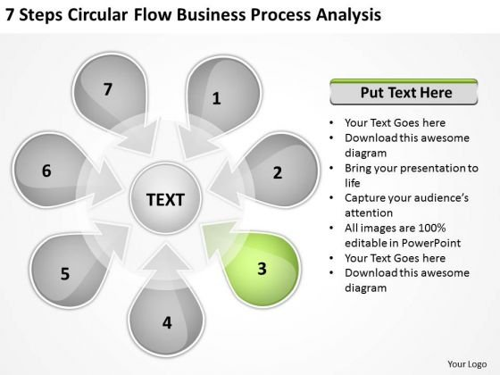 Process Analysis PowerPoint Templates Backgrounds Presentation - Business plan powerpoint template free