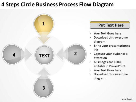 Templates Free Download Process Flow Diagram Personal Business Plan PowerPoint Slides