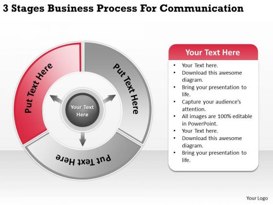 Templates Process For Communication Ppt Best Business Plan PowerPoint