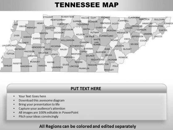 Tennessee PowerPoint Maps