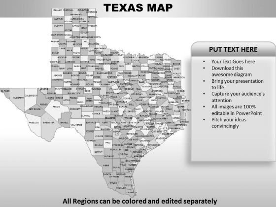 Texas PowerPoint Maps