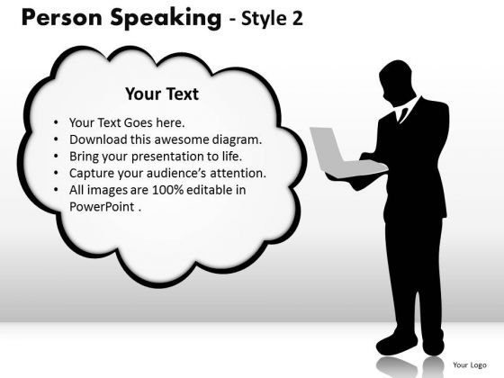 Text Boxes Person Speaking 2 PowerPoint Slides And Ppt Diagram Templates