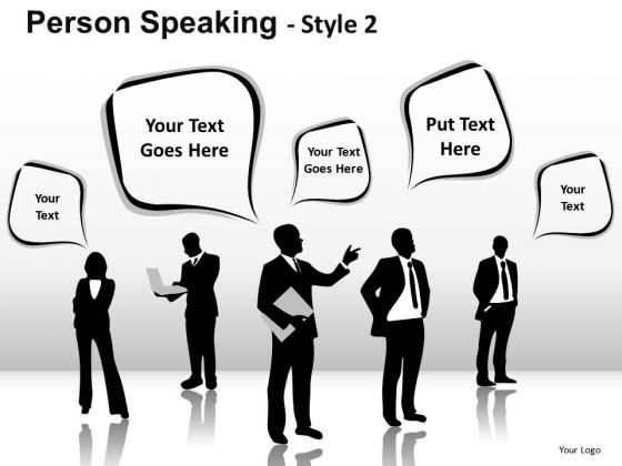 Text Boxes Person Speaking PowerPoint Slides And Ppt Diagrams